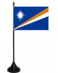 Marshall Islands Desk / Table Flag with plastic stand and base.